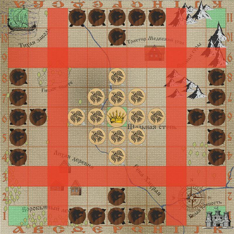 Тавлеи - магический квадрат